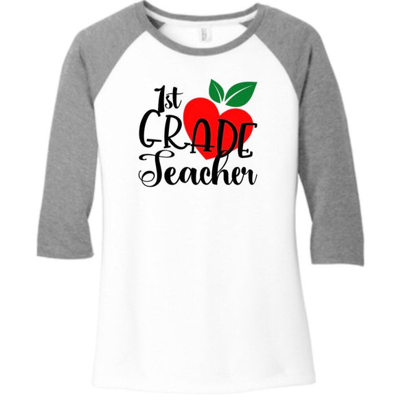 1st Grade Teacher Raglan, Teacher Baseball Tee, Teacher Shirts, teacher tshirt, Best teacher gift, Back to School Shirts, Teacher t shirt