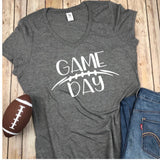 Game Day Vneck, Game Day Tshirt, Football Shirt, Womens Football Shirt, Superbowl Shirt, Fall Shirt, game day shirt, womens football tshirt