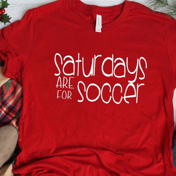 34c54ab1480f Saturdays are for Soccer, Soccer Mom Shirt, soccer coach gift, Team Mom  Shirt