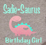 Girls Birthday Dinosaur Shirt, Girls Birthday Shirt, Birthday Shirt for Girls, Girls Birthday Gift, Birthday Shirt, Kids birthday shirt