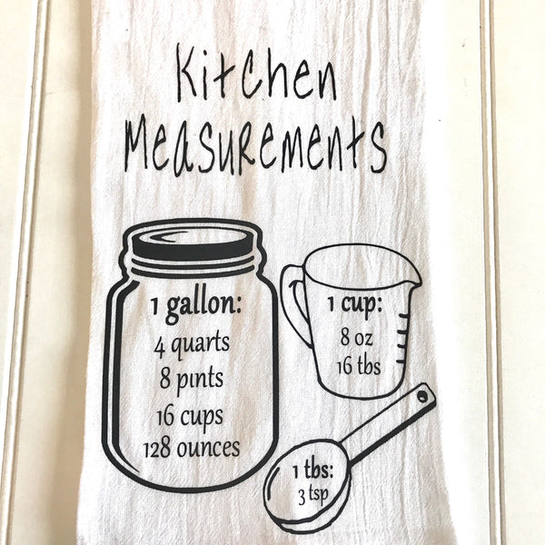 measurement kitchen towel, dish towel, kitchen towel, personalized kitchen towel,wedding gift,housewarming gift,Christmas gift,kitchen,towel