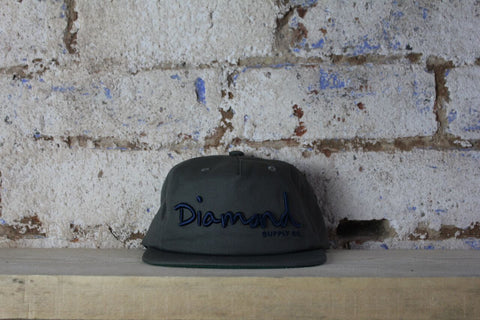 Diamond | Text Logo Cap | Grey