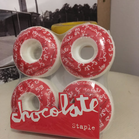 Chocolate | All Over Chunk 53mm | Wheels Red