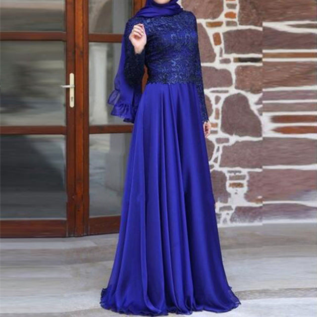 Elegant Midnight Blue Gown   The Sahira Collection
