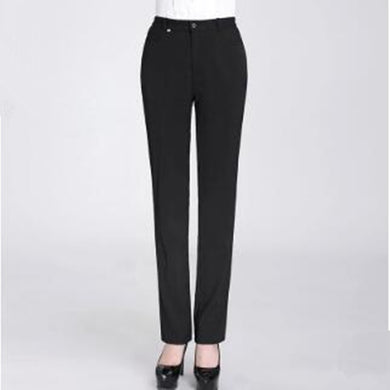 Straight autumn or summer casual trousers
