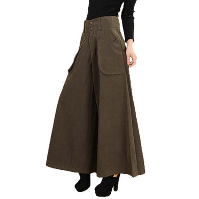 Solid Wide Leg Palazzo Pants