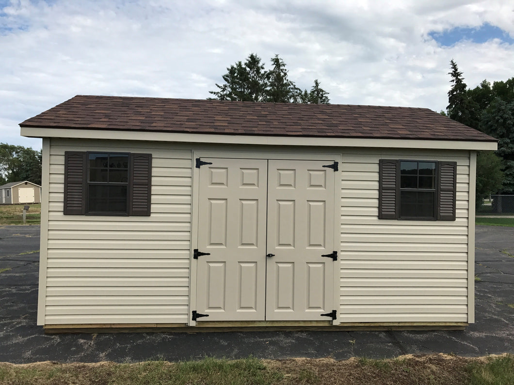 10X16 Ranch Style Vinyl Shed