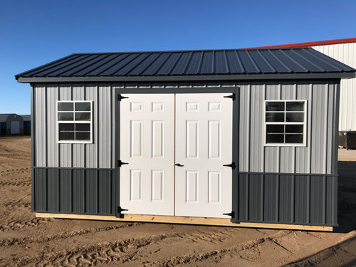 12X16 Ranch Style Tuff Rib Steel Shed