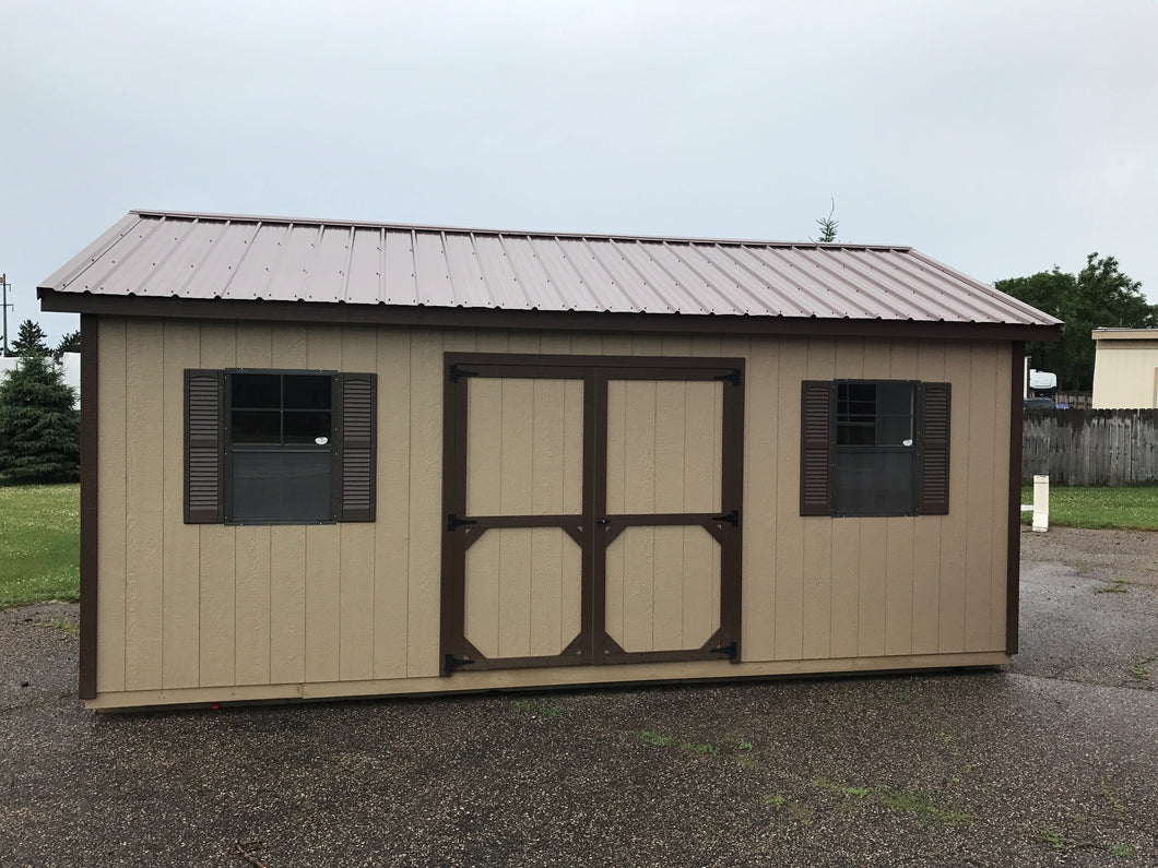 12x20 Sandy Ridge Tan Ranch Style Shed