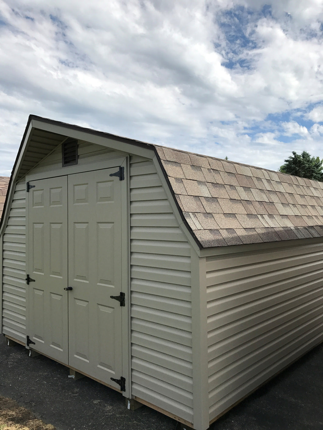 10X12 Low Barn Vinyl Style Shed