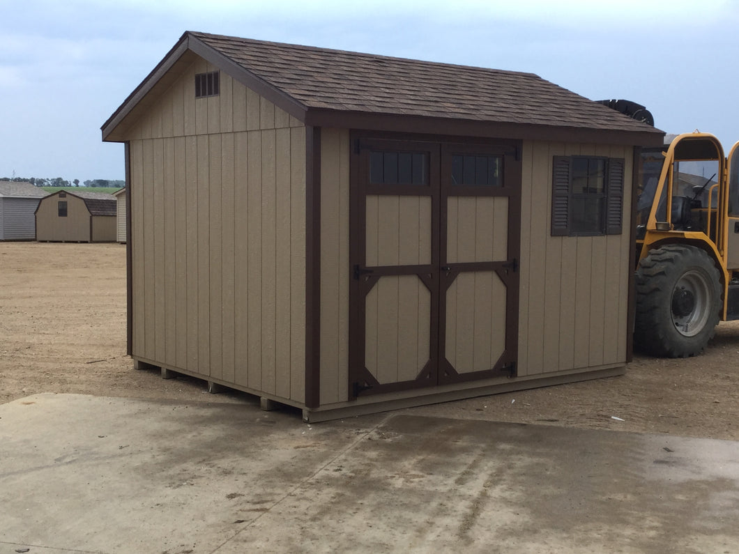 10X12 Ranch Style Wood Shed