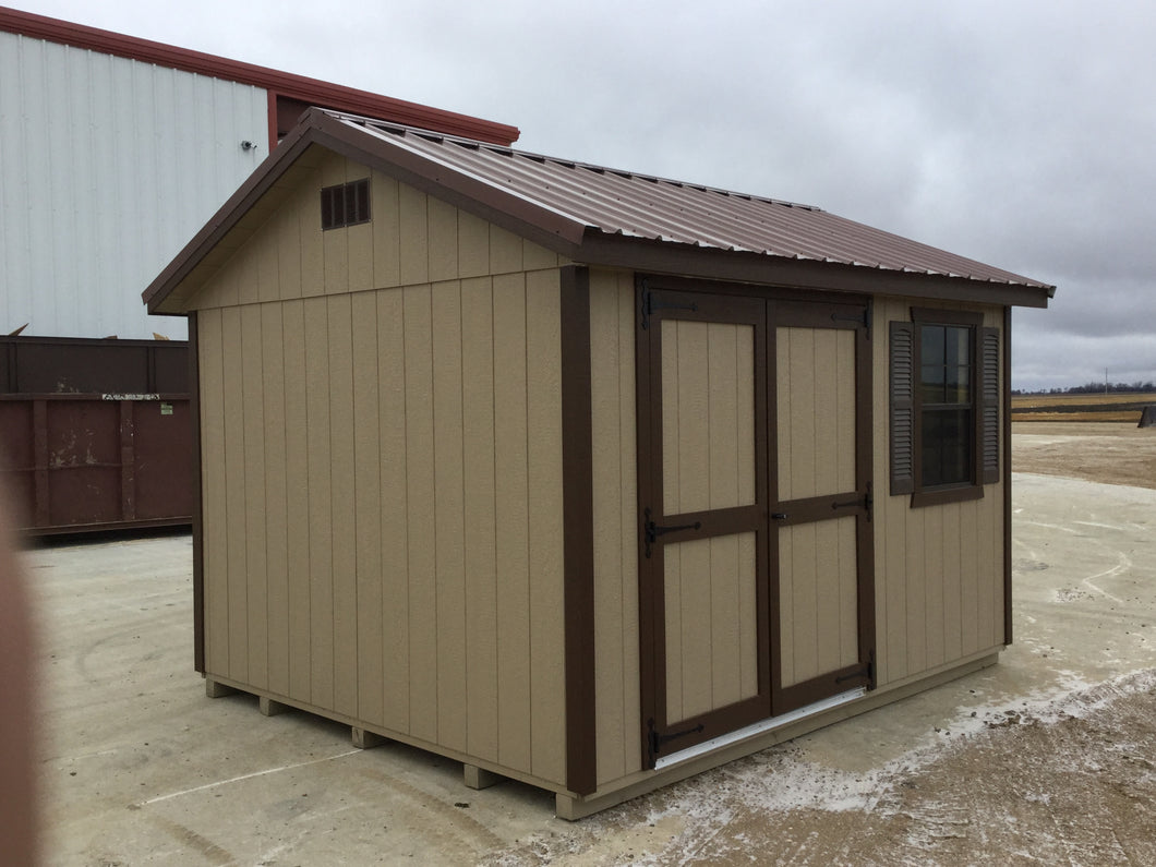 10X12 Garden Package With Wood Panel Siding ** Roofline - 5/12 Ranch Gable**