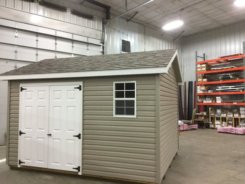 10X12 Everyday Backyard Shed Package With Vinyl Siding ** Roofline - 5/12 Ranch Gable**