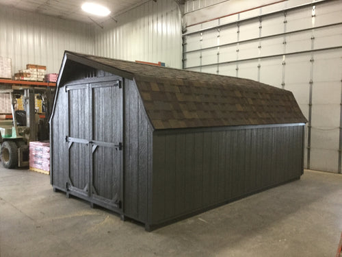 10X16 Everyday Backyard Shed Package With Wood Panel Siding ** Roofline - Low Barn**