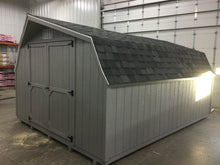 12X16 Everyday Backyard Shed Package With Wood Panel Siding ** Roofline - Low Barn**
