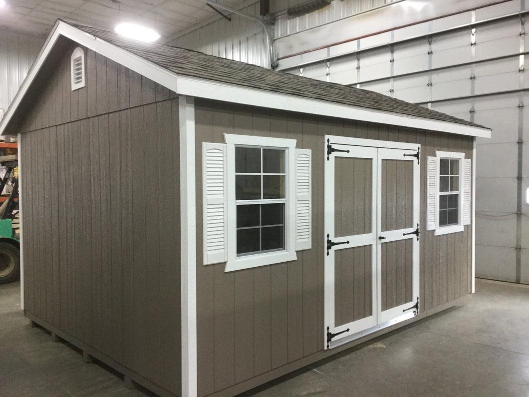 12X16 Garden Package With Wood Panel Siding ** Roofline - 5/12 Ranch Gable**