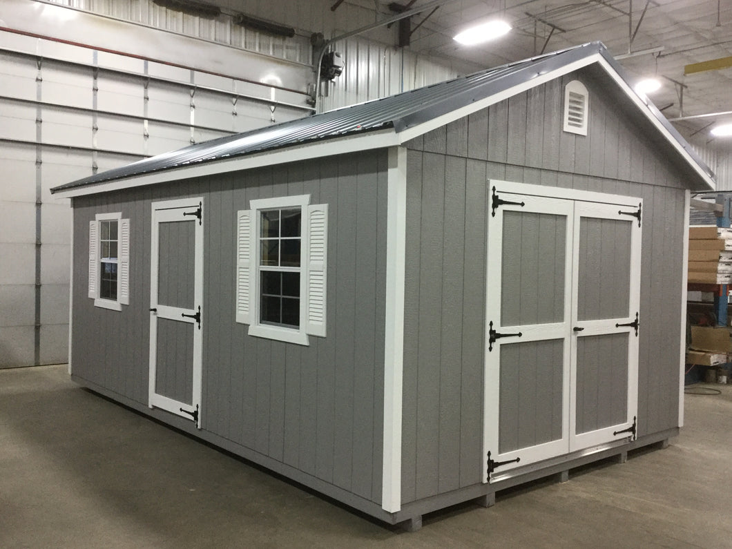 12X20 Garden Package With Wood Panel Siding ** Roofline - 5/12 Ranch Gable**