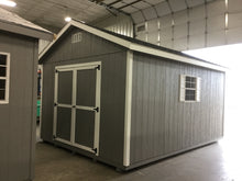 12X16 Everyday Backyard Shed Package With Wood Panel Siding ** Roofline - 5/12 Ranch Gable**