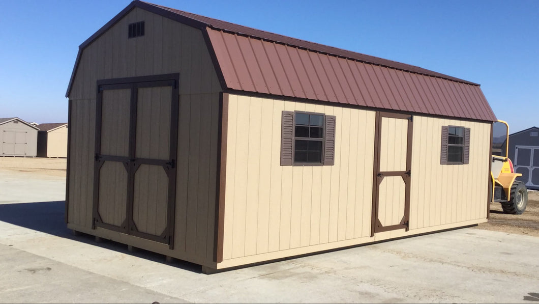 12X24 Everyday Backyard Shed Package With Wood Panel Siding ** Roofline - High Barn**