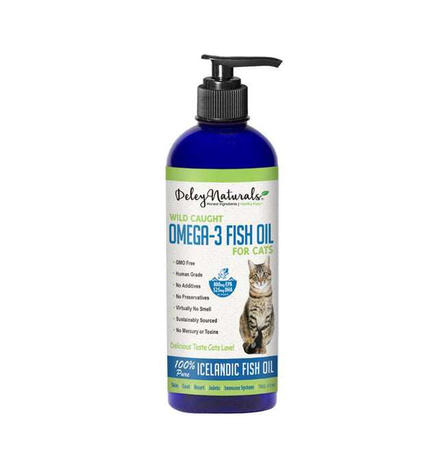 Wild Caught Omega-3 Fish Oil for Cats 16 oz