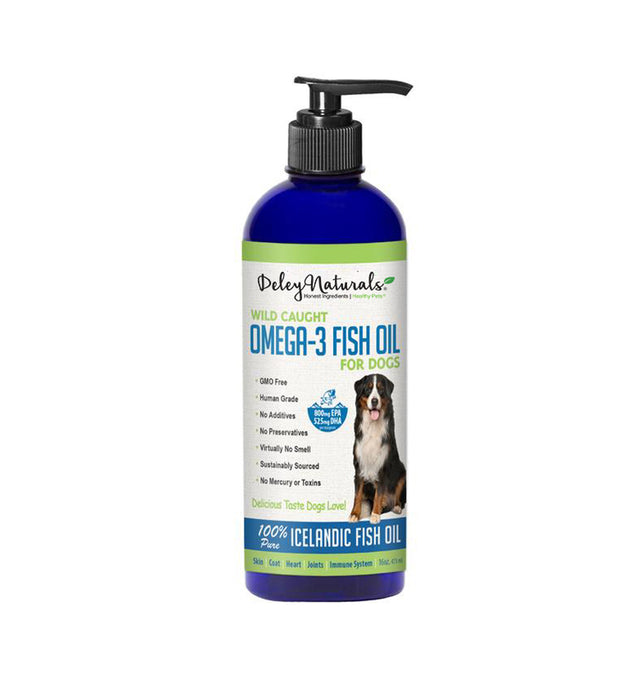 Wild Caught Omega-3 Fish Oil for Dogs 16 oz