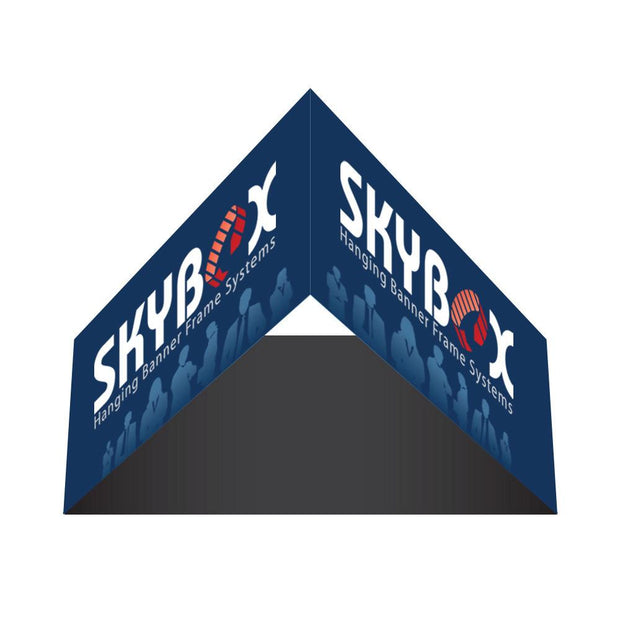 Hanging Banner 8 ft. Triangle 42 in. Outside Graphic Package