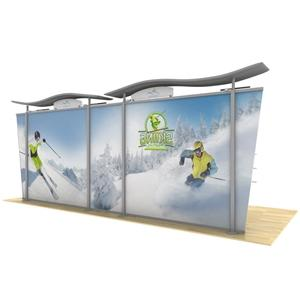 20ft Timberline Modular Display w/Wave Top & Tapered Fabric Sides