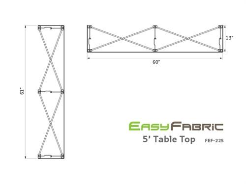 EasyFabric 5ft Table Top