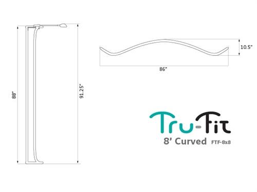 8ft Tru-Fit Curved Graphics