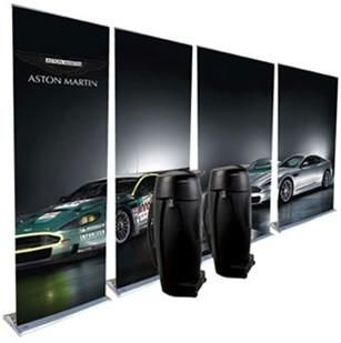 Four Pack Retractable Banner Stands and Cases