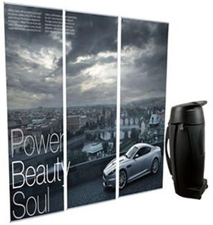 Lite Non-Retractable Banner Stands and Case