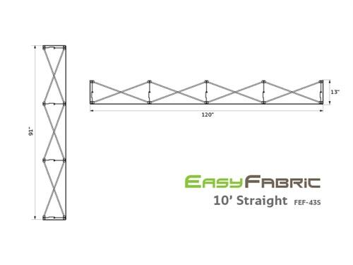 10ft EasyFabric - Straight