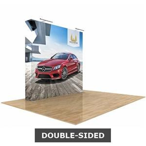 Star Fabric Popup Display 8ft Straight Double-Sided