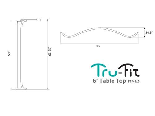 6ft Tru-Fit Table Top