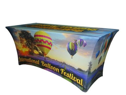 Full Color 8ft Spandex Table Cover