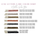 Design Your Own | Metallic Gold Letter Bead Bracelet