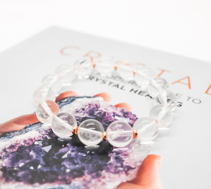 Clear Quartz Bauble Bracelet