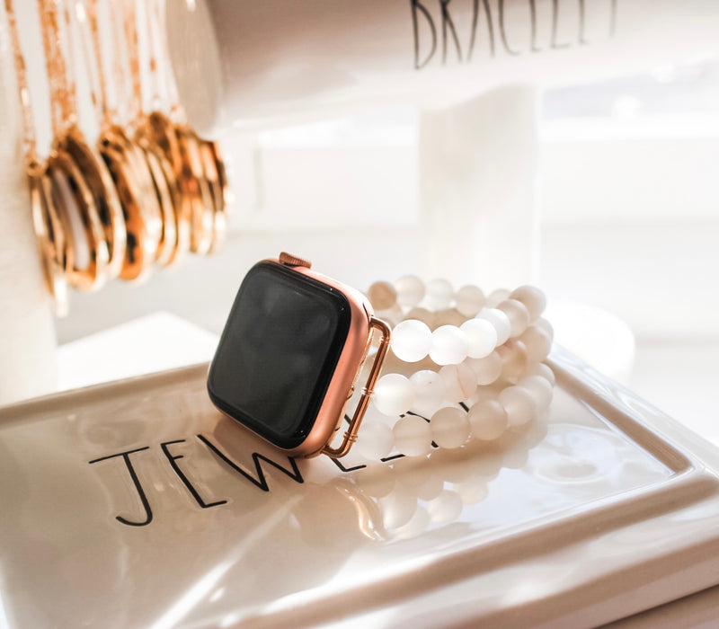 White Agate Druzy Apple Watch Band