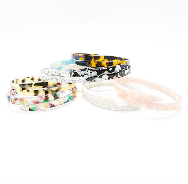 Acetate Bangle Bracelet | Tortoise