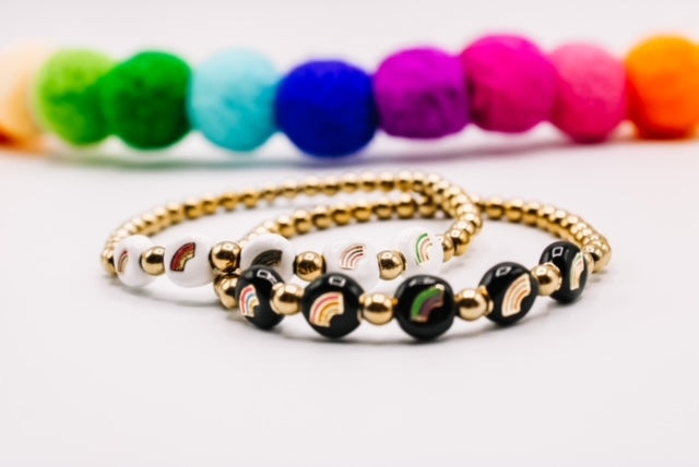 Design Your Own | Enameled Rainbow Bead Bracelet