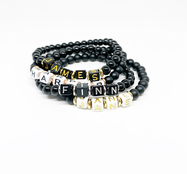 Design Your Own | Block Letter Bracelet