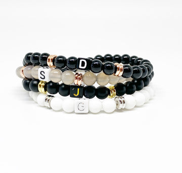 Design Your Own | Block Letter Initial Bracelet with Spacers