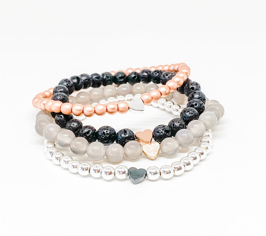 Design Your Own | Heart Stack Bracelet