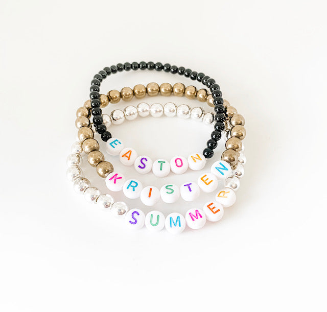 Design Your Own | Multicolor Letter Bead Bracelet
