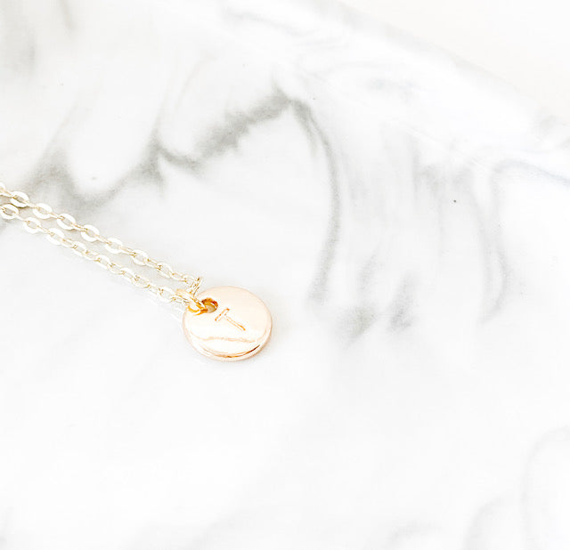 Initial Charm Necklace | Gold
