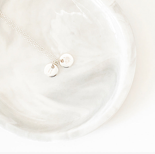 Initial Charm Necklace | Silver