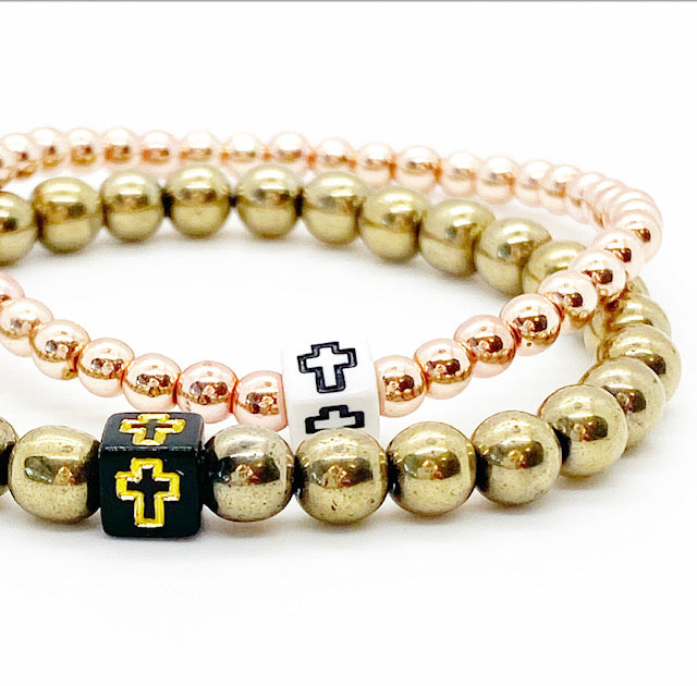 Design Your Own | Block Cross Bracelet Single