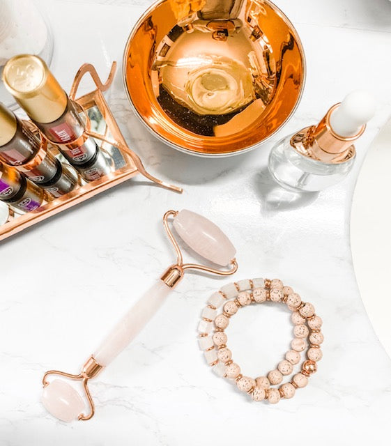 Gemstone Facial Roller | Rose Quartz