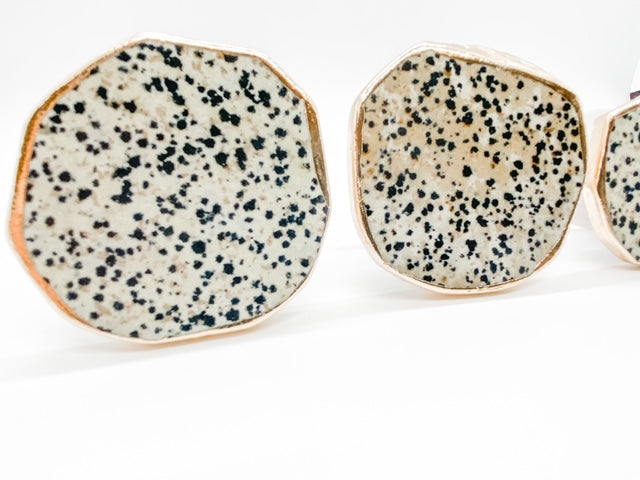 Gemstone Phone Grip | Dalmatian Jasper