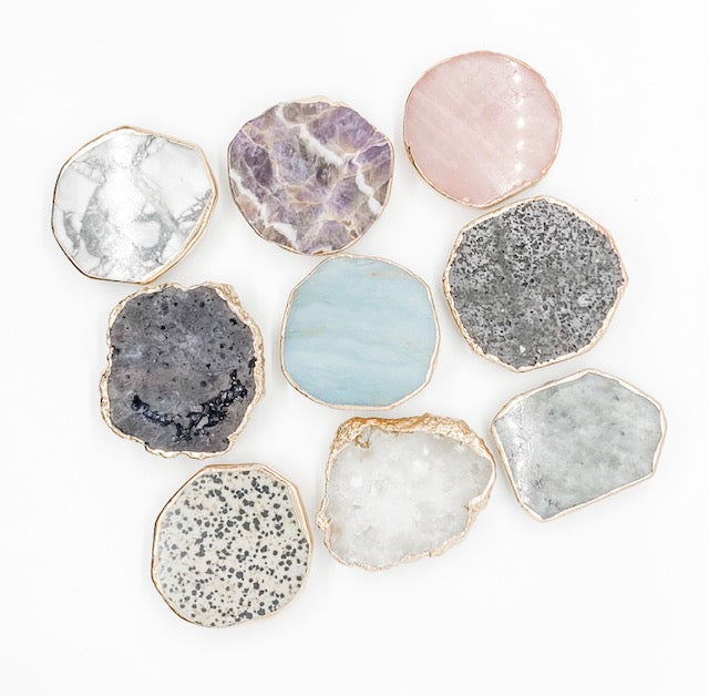 Gemstone Phone Grip | White Druzy